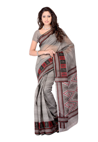 Grey  color Cotton saree