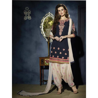 Designer Blue and White Patiala Suits