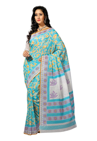 Light Blue color Cotton saree