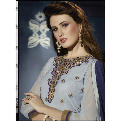 Designer Punjabi Blue patiala Suits