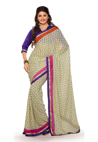Light Green color Georgette saree