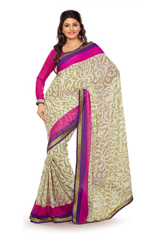 Light Green color Super Chiffon saree