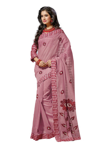 Light Pink color Cotton saree