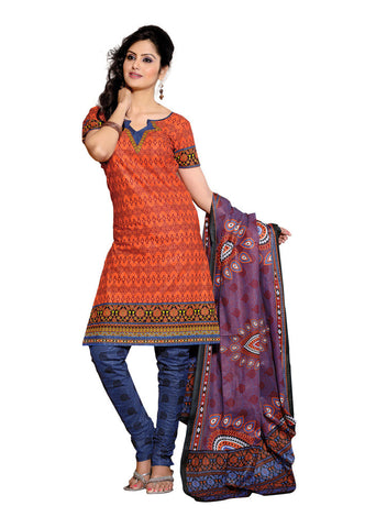 Orange Cotton Salwaar Suits