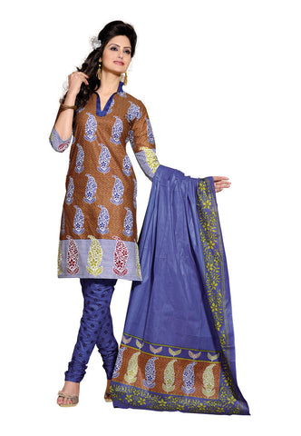 Brown  Cotton Salwaar Suits