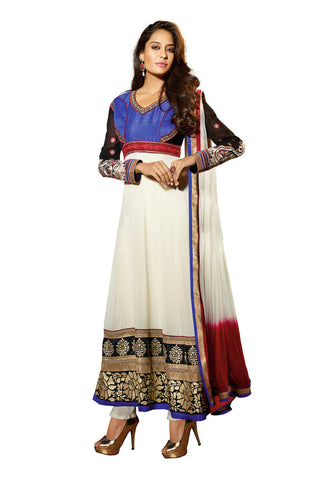 White & Blue Georgette suits