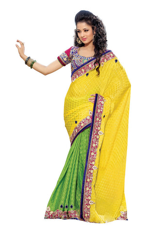 Purple color Banarasi Cotton saree