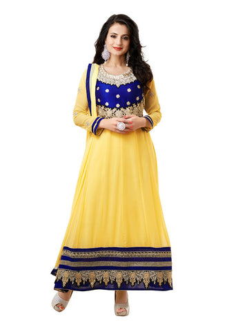 Light Yellow Georgette suits