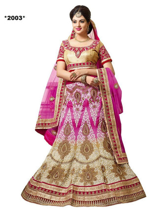 Designer Pink and beige lehenga for brides