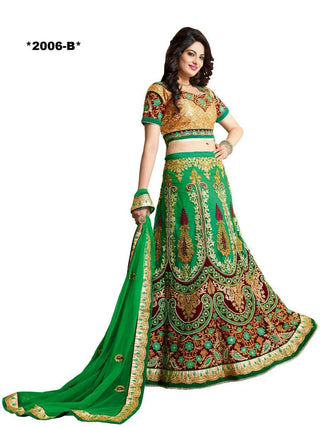 Designer Green Bridal lehenga with exclusive work