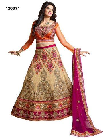 Designer beige and pink lehenga for wedding and brides