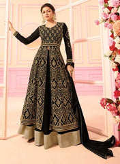 Black Georgette Party Wear Anarkali With Black Dupatta