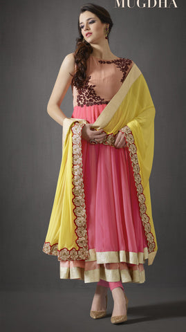 Designer Multicolored Anarkali Suits