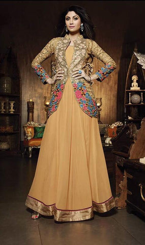 Anarkali suits Beige,Georgette
