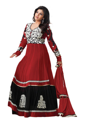 Maroon Georgette Party Wear suits