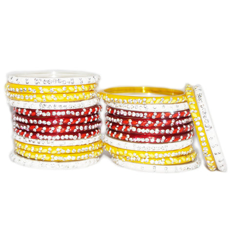 Buy glass  bangle chura set