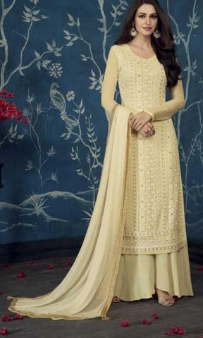 Yellow Apple Georgette Party Wear Salwar Suit With  Dupatta