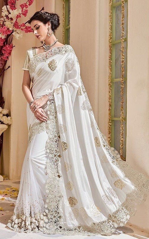 8efc404579adb Shop Online Bridal And Party Wear Sarees On Cash On Delivery Below ...