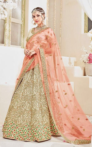 Beige & Pink,Net,heavy saree