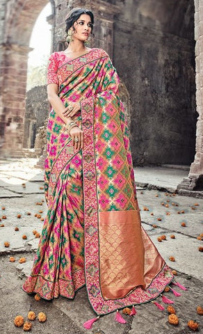 Designer Pure Silk Saree With Blouse