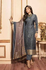 Grey Silk Party Wear Salwar Kameez With  Dupatta
