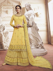 Yellow Glory Georgette Party Wear Salwar Suit With  Dupatta