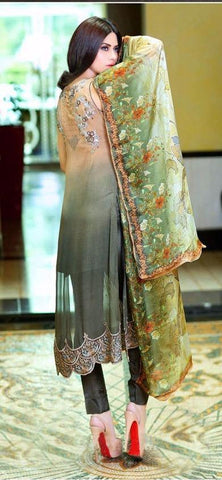 Multicolor straight knee length salwar suits dress material