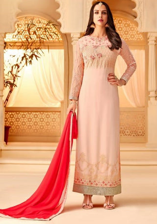 a3bc72774e9 Pink Georgette Party Wear Suit With Dupatta