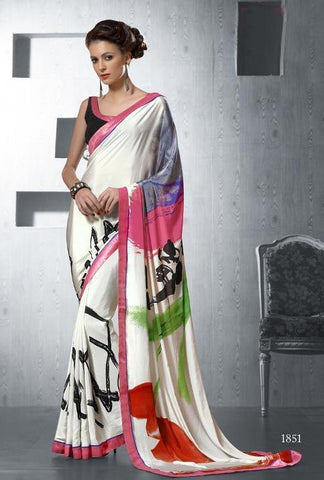 Saree Multicolor,Silk crepe