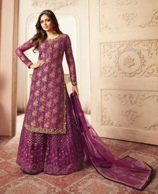 Rose Bud Cherry Dola Jacquard Party Wear Suit With  Dupatta