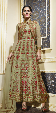 Multi Color,Georgette,Party Wear Designer Suits