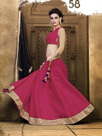 Pink ,Jacquard,Designer party wear lehenga with heavy work