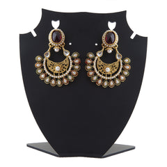 Designer Earring with red bead work ER_AC_E533