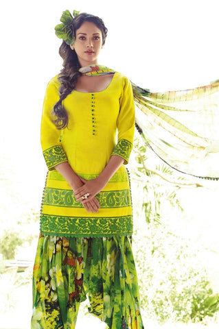 Patiyala suits Yellow , Green,Lawn cotton