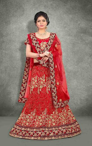 wedding lehenga Maroon,Net