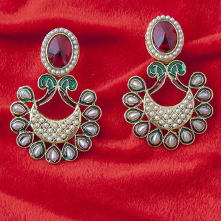 Designer polki fashion ethnic design earrings ER_AC_E534
