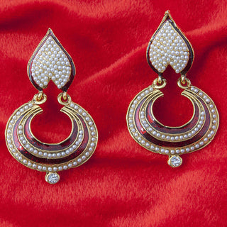 Designer Poki White earring for women ER_AC_E543