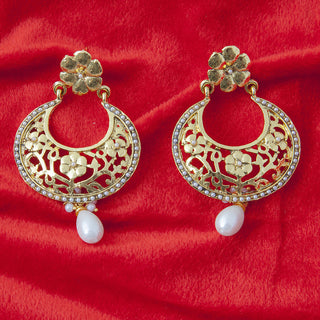 Designer Golden color earring for parties ER_AC_E544