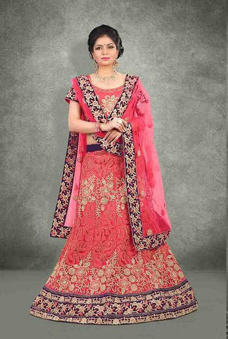 wedding lehenga Pink , blue,Net