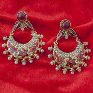 Designer earrings in antique gold color ER_AC_E550