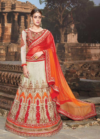 Multicolor,Silk,Heavy designer lehenga with heavy embroidery for wedding