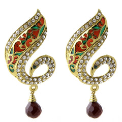 Desginer brass earring for women with colourful design ER_B_15DC