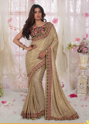 Saree Beige,Georgette