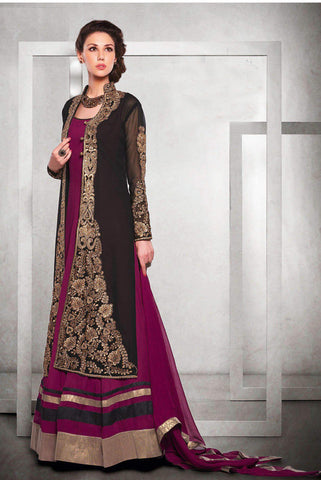 Designer georgette Suit with chiffon dupatta