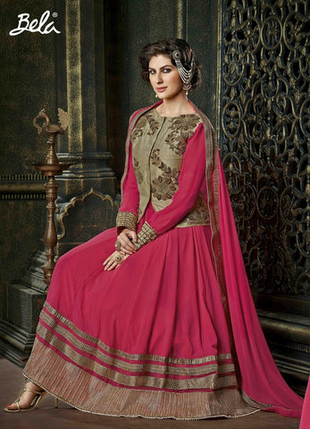 Anarkali suits Pink,Georgette