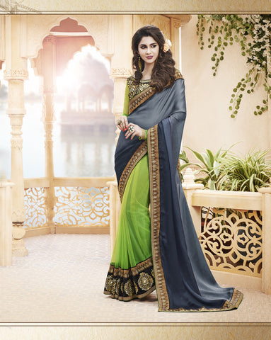 Designer Satin Chiffon and Net Saree for Party and Designer Sating Chiffon and Net Saree for parties and wedding Combo Offer