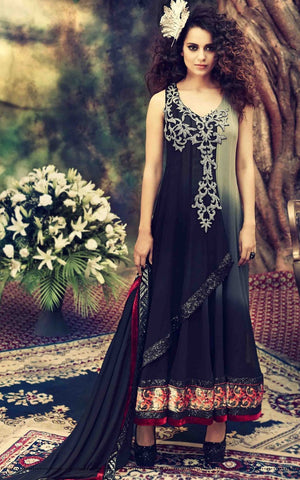 Long floor length anarkali designer suits with embroidery work