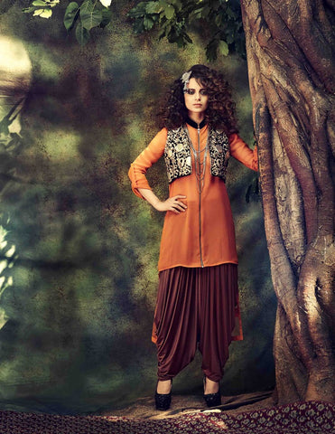 Designer patiyala style semi stitched suits with chiffon dupatta