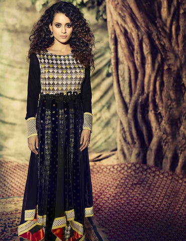 Designer long floor length anarkali frock semi stitched suits