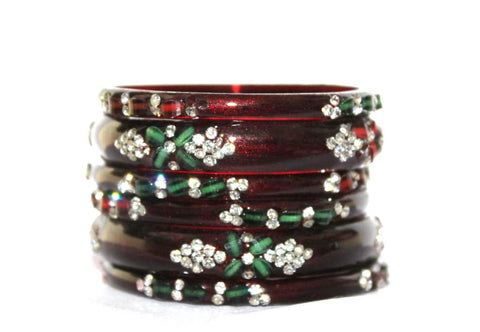 Wedding glass bangle set